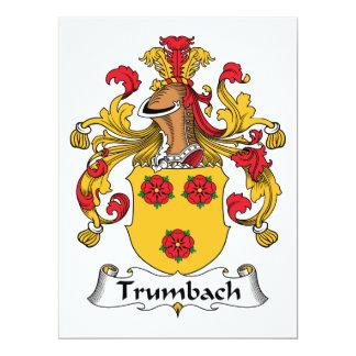 """Escudo de la familia de Trumbach Invitación 6.5"""" X 8.75"""""""
