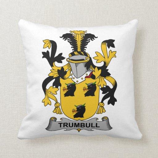 Escudo de la familia de Trumbull Almohadas