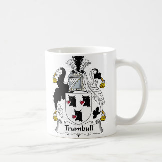 Escudo de la familia de Trumbull Taza De Café