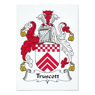 Escudo de la familia de Truscott Invitación 12,7 X 17,8 Cm