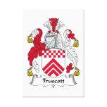 Escudo de la familia de Truscott Impresion De Lienzo