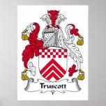 Escudo de la familia de Truscott Poster