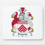 Escudo de la familia de Truscott Tapete De Raton