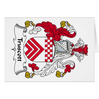Escudo de la familia de Truscott Tarjeta De Felicitación