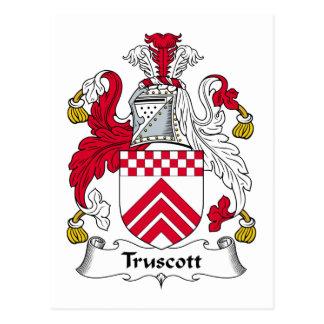 Escudo de la familia de Truscott Tarjetas Postales