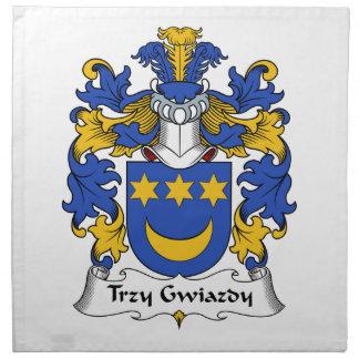 Escudo de la familia de Trzy Gwiazdy Servilleta De Papel