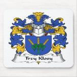 Escudo de la familia de Trzy Klosy Tapete De Ratones