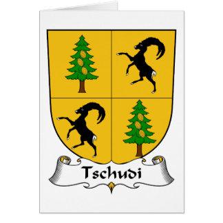 Escudo de la familia de Tschudi Tarjeta De Felicitación