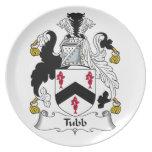 Escudo de la familia de Tubb Plato De Cena