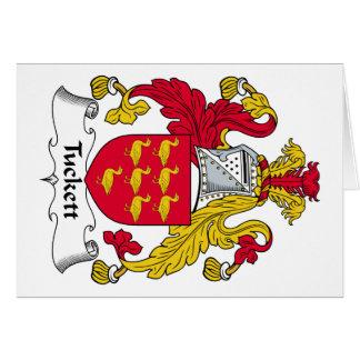 Escudo de la familia de Tuckett Tarjeta