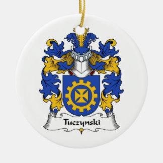 Escudo de la familia de Tuczynski Ornaments Para Arbol De Navidad