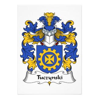 Escudo de la familia de Tuczynski Invitaciones Personales