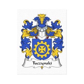 Escudo de la familia de Tuczynski Lienzo Envuelto Para Galerías