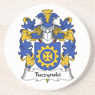 Escudo de la familia de Tuczynski Posavasos Personalizados