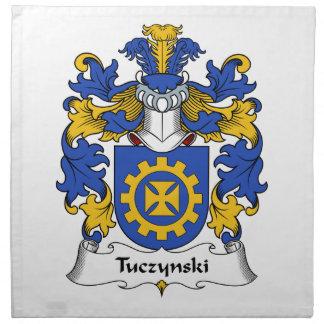 Escudo de la familia de Tuczynski Servilletas