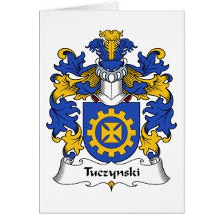 Escudo de la familia de Tuczynski Felicitación