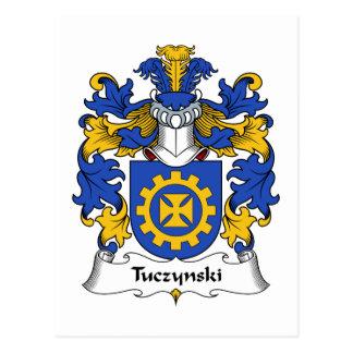 Escudo de la familia de Tuczynski Tarjeta Postal