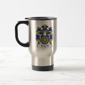 Escudo de la familia de Tuczynski Tazas De Café