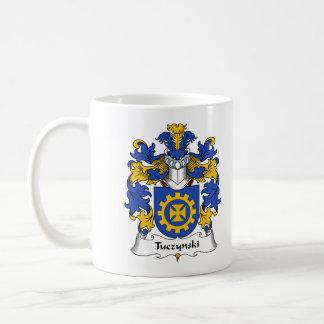 Escudo de la familia de Tuczynski Taza De Café