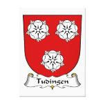 Escudo de la familia de Tudingen Impresión En Lona