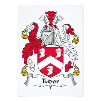 Escudo de la familia de Tudor Invitación 12,7 X 17,8 Cm