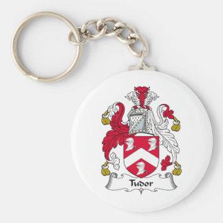 Escudo de la familia de Tudor Llavero Redondo Tipo Pin