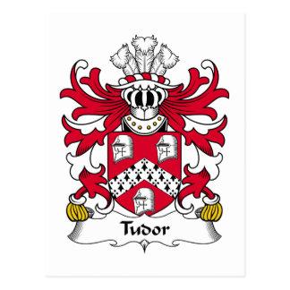 Escudo de la familia de Tudor Tarjeta Postal