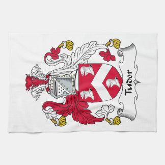 Escudo de la familia de Tudor Toalla De Mano