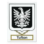 Escudo de la familia de Tufton Invitación 11,4 X 15,8 Cm