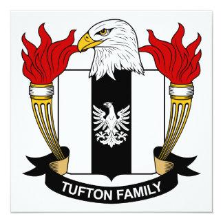 """Escudo de la familia de Tufton Invitación 5.25"""" X 5.25"""""""