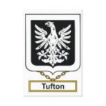 Escudo de la familia de Tufton Lona Envuelta Para Galerias