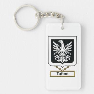 Escudo de la familia de Tufton Llavero Rectangular Acrílico A Una Cara