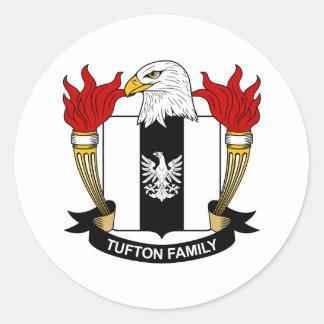 Escudo de la familia de Tufton Pegatina Redonda