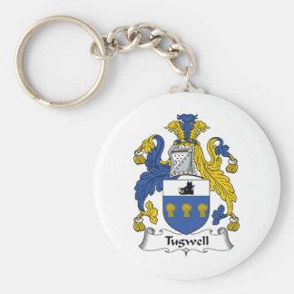 Escudo de la familia de Tugwell Llavero Redondo Tipo Pin