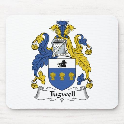 Escudo de la familia de Tugwell Alfombrillas De Raton
