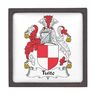 Escudo de la familia de Tuite Cajas De Joyas De Calidad