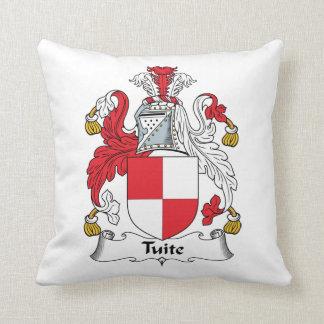 Escudo de la familia de Tuite Cojines
