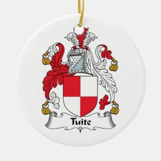 Escudo de la familia de Tuite Adornos De Navidad