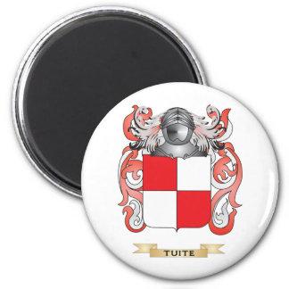Escudo de la familia de Tuite (escudo de armas) Imanes Para Frigoríficos