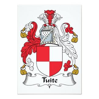 Escudo de la familia de Tuite Invitaciones Personalizada