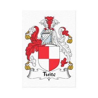 Escudo de la familia de Tuite Lona Envuelta Para Galerias