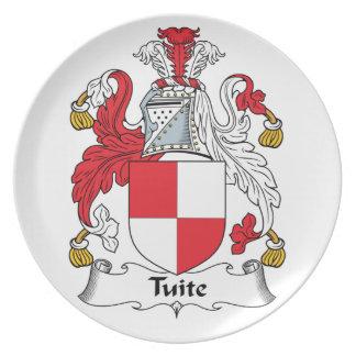 Escudo de la familia de Tuite Platos