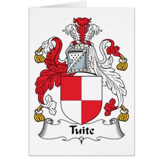 Escudo de la familia de Tuite Tarjeton