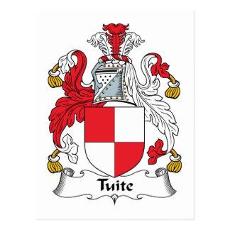 Escudo de la familia de Tuite Tarjeta Postal