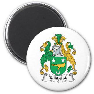 Escudo de la familia de Tullidelph Imán Redondo 5 Cm