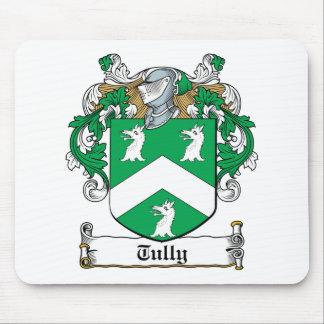 Escudo de la familia de Tully Alfombrillas De Raton