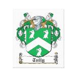 Escudo de la familia de Tully Lona Envuelta Para Galerias