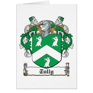 Escudo de la familia de Tully Tarjeta De Felicitación