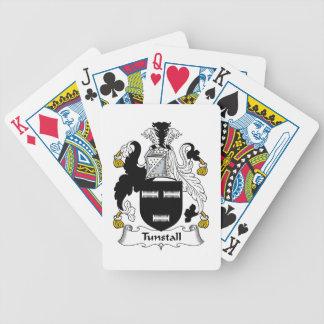Escudo de la familia de Tunstall Baraja Cartas De Poker