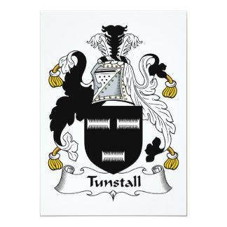 """Escudo de la familia de Tunstall Invitación 5"""" X 7"""""""